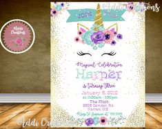 67 Best Unicorn Invitations Backdrops Designs Party Birthday