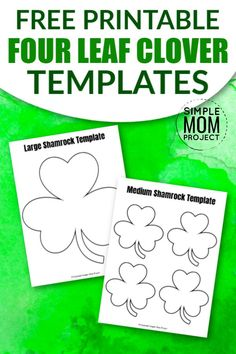 These free printable shamrock templates are perfect in any St. Prints are in large, medium and small! Diy Crafts For Girls, Fun Diy Crafts, Rock Crafts, Shamrock Printable, Shamrock Template, Coloring Sheets For Kids, Coloring Pages, Templates Printable Free, Free Printables