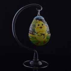 Oua de paste din sticla | Fuleki Glass Paste, Christmas Bulbs, Holiday Decor, Christmas Light Bulbs