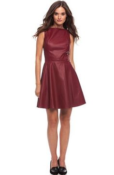 Faux Leather Mini Dress - Dresses - New Arrivals - Womens - Armani Exchange