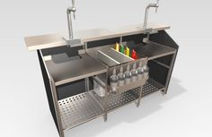 Portabar® is our very versatile, patented portable bar that can be set-up in different shapes, sizes and bar lengths. Quickly assembles and easy to transport and store.