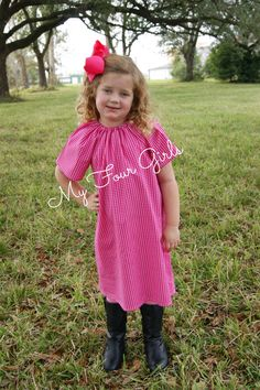 Valentines Dress Heart Dress Hot Pink Dress by MyFourGirlsGifts