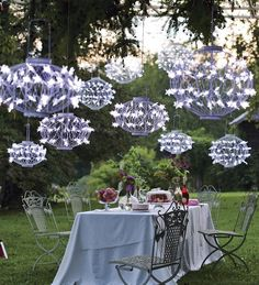 Set your summer celebrations by the light the unique solar-powered star lanterns. Versatile style for everyday use, weddings, barbeques, fundraisers and more.