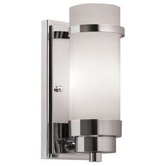 Shop Portfolio Chrome Arm Wall Sconce at Lowe's Canada. Find our selection of wall sconces at the lowest price guaranteed with price match. Vintage Wall Sconces, Rustic Wall Sconces, Candle Wall Sconces, Wall Sconce Lighting, Indoor Wall Sconces, Bathroom Wall Sconces, Basement Bathroom, Bathroom Ideas, Bathroom Plumbing