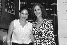 Elisa de Luxeli y Andrea Marí del Blog Sencillamente Ideal. Evento Luxeli Belleza
