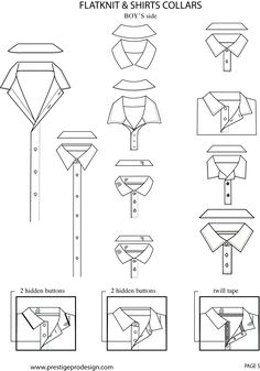 Collar concepts for closed collar for mans shirt