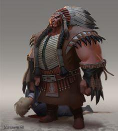 Tanka the Buffalo Chief by Brian Lawver