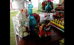 quadrados de chita em decoração de festas