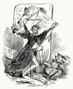 Breloque was trembling all over.  Tony Johannot, from Histoire du roi de Bohême et de ses sept châteaux (Story of the King of Bohemia and his seven castles), by charles Nodier, Paris, 1830