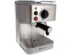 Features/Specifications Product code: Optional: 1 large or 2 small cups Permanent stainless steel filter Removable water tank Adjustable panatela head for frothy cappuccino Constant 15 bar pump pressure Makes espresso or cappuccino For domestic use only Espresso Maker, Espresso Machine, Coffee Maker, Coffee Culture, Hobbs, Water Tank, Kitchen Appliances, Stainless Steel, Bar