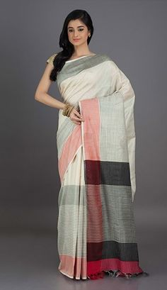 Pankhi Pristine Dual Bordered Khadi Silk Saree