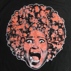 Black Dynamite Blaxploitation T-Shirt by Garry Booth Mondo Celluloid Wild Afro L #Alstyle #GraphicTee