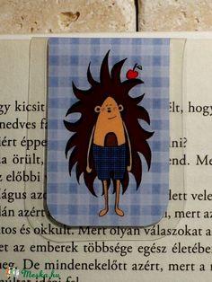 Sün Balázs-mini MÁGNESES könyvjelző 1 db, Naptár, képeslap, album, Könyvjelző, Meska
