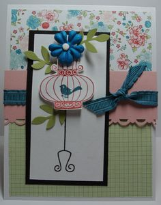 Blue Bird ALL OCCASION card Stampin Up