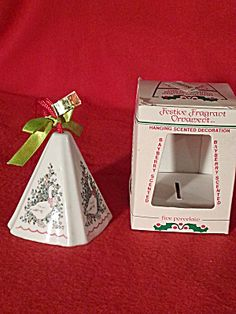 1960s Jasco Porcelain Festive Fragrant Christmas Ornament