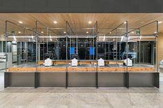 schemata architects reinvent grocery shopping for fukushimaya supermarket in tokyo Factory House, Retail Architecture, Garage House Plans, Retail Shop, Cafe Restaurant, Retail Design, Interior Lighting, Tokyo, Interior Design