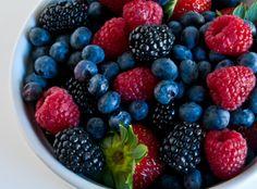 blueberries, raspberries & blackberries
