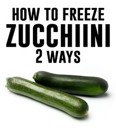 for casserole--slice blanch and freeze for zucc. bread grate and freeze--How to freeze zucchini - AndreasNotebook.com