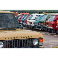 Range rover classic Vogue 2 door meeting picture by Land Rover magazine . . #RangeRover #vogue ...