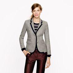 Schoolboy blazer in tipped wool - schoolboy blazers - Women's blazers - J.Crew