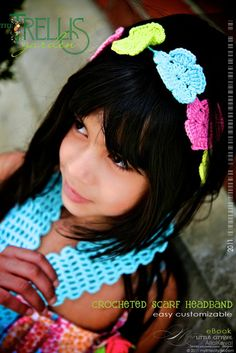 Crochet Garden Trellis Headband/Scarf - Free Pattern Downloaded