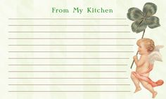"""Angel Printable Recipe Cards 