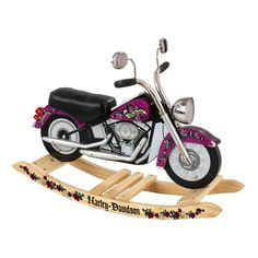sooo cute - of course every little girl needs a Harley, especially a pink Harley!