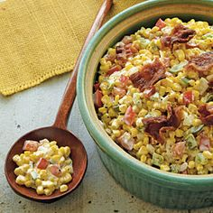 5 STARS: Fried Confetti Corn Recipe...not the best if you are trying to loose weight, but down right fantastic
