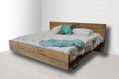 Modern Rustic Reclaimed Wood Platform Bed, King Made to order. $2,695.00, via Etsy.
