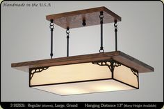 Mission Lighting :: Antique Style Mission Chandelier