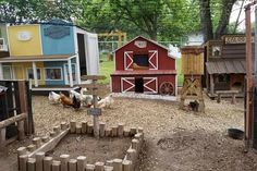 How cute is this little chicken coop town in the old west? Why have one chicken coop when you can have a whole town of them! Chicken Coop Plans, Diy Chicken Coop, Chicken Pen, Chicken Tractors, City Chicken, Chicken Garden, Chicken Lady, Wild West, Chicken Minis