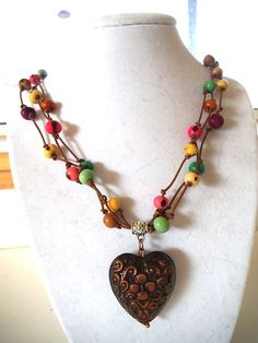 EcoFriendly Acai Seed Necklace with Copper by TerriJeansAdornments, $35.00