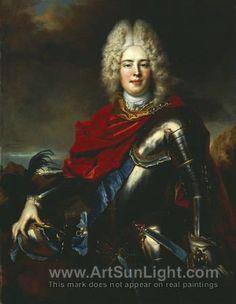 Nicolas de Largillière (1656–1746),    Augustus III the Corpulent in young age, 1715, oil.