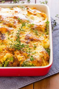 Broccoli, Cauliflower and Red Pepper Bake-6