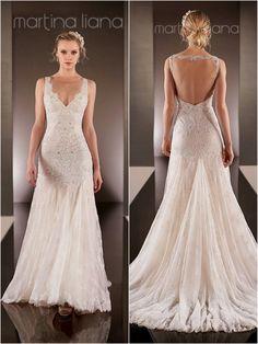 Interesting back view. Martina Liana Wedding Dresses | 2015 Wedding Dresses » KnotsVilla