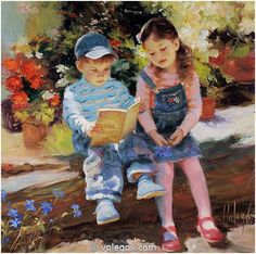 Volegov, Vladimir. Do You Want I'll Read for You. 2010. Oil on canvas.