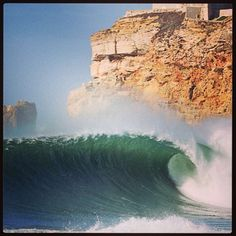 South Beach Nazaré #Portugal (photo shared by Garrett McNamara on Facebook