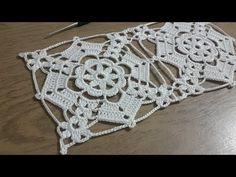 Crochet Snowflake Pattern, Crochet Motif Patterns, Crochet Snowflakes, Crochet Squares, Crochet Designs, Lace Doilies, Crochet Doilies, Crochet Flowers, Crochets En Crochet