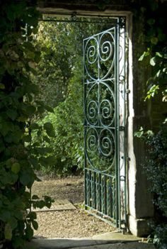 Wrought Iron Gate..Oxfordshire England
