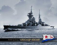 Russian cruiser Alexander Nevsky (86-89) during World War II. Легкий крейсер Александр Невский. (google.image) 7.17 #56A