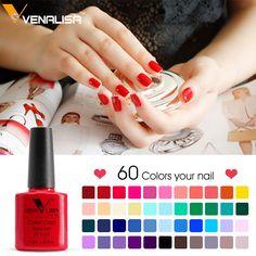 #61508 Venalisa Easy Soak Off Gel Nail UV LED Lamp Gel Polish 60 Colors Semi Permanent Gel Varnishes Gelpolish