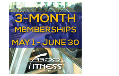 It's never too late to get in shape! 3-Month Memberships will be on sale May 1 - June 30 at 4500 Fitness! Access more than 40 cardiovascular machines with personal viewing screens, free weights, steam rooms, lockers, and towel service. Visit http://www.dgparks.org/sports-and-fitness/4500-fitness