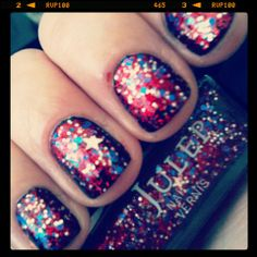 4th of July mani: Julep America & Cult Nails Nevermore
