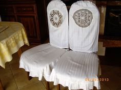woven with passion: Dresses for chairs and hearts for roses :))