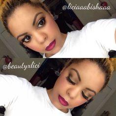 natural eye w/ ombre lip . Using MACs current (lip liner) and MACs Rebel & Flat Out Fabulous mixed