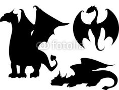 Vector: Dragon Silhouettes