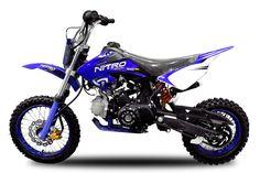 125cc Dirtbike NXD A14 Crossbike 14/12 E-Start Automatik Pitbike Enduro  v-Farbe
