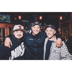 Actors from NBC TV Show  ChicagoFire  ~ Yuri Sardarov ~ Joe Minoso ~ David Eigenberg @ the Chicago Firefighters Charity @ Mo Dailey's Pub/Grill in Norwood Park, IL on November 2, 2014 ♨️