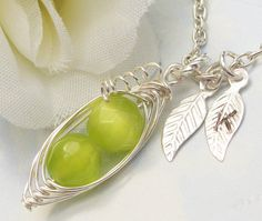 Two 2 Sweet Peas In A Pod ALL STERLING SILVER by Kikiburrabeads, $24.00