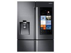 """Discover the latest features and  innovations available in the36"""" Wide X 72"""" High 22 cu. ft. Capacity Counter Depth 4-Door Flex™ Refrigerator with Family Hub™ (Black Stainless Steel). Find the perfect Refrigerators for you!"""